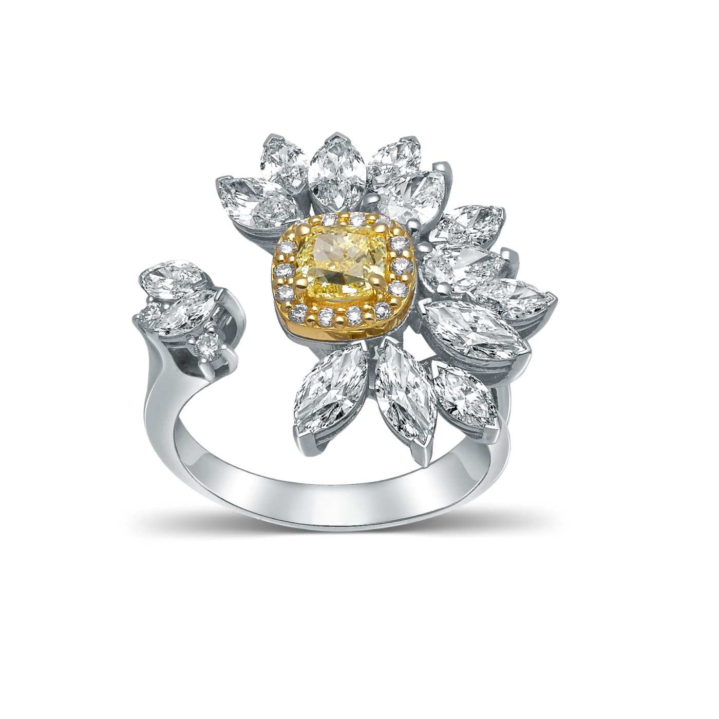 Devous Fancy Yellow Diamond Ring